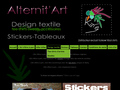 Alternitart : tee-shirts originaux et uniques, stickers d�co, cr�ations textiles et objets design
