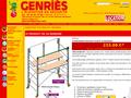 Genries : achat en ligne d'échelles coulissantes d'extérieur et accessoires d'élévation