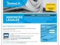 L'Itinérant : publication d'une annonce légale
