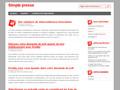 Simple Presse : diffusion de communiqués de presse gratuitement