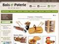 Bois et Poterie : objets de décoration en bois
