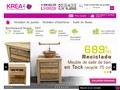 Krea : mobilier en teck