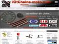 Kit chaine pour moto en ligne