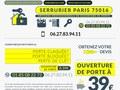 Ouverture de porte claquée à Paris 16ème