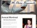 Me Elaine Bissonnette : bureau d'avocat à Montréal