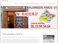 Plombier chauffagiste à Paris 15ème