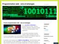 Avis et échange sur la programmation web