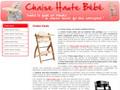 Chaise Haute : informations pour acheter la chaise haute pour votre enfant
