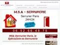 M.S.A : srrurerie à Paris