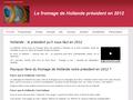 Présidentielles 2012 : le fromage de Hollande président sur votre table