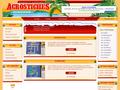 Acrostiches et Acroscore : jeux de lettres multijoueurs en ligne - le site possède un forum