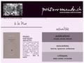 Poesie Romande : panorama large des actualités concernant la poésie en Suisse Romande