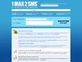 1max2sms : SMS gratuit dans le monde entier en échange d'une inscription sur un site partenaire