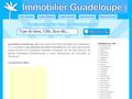 Immobilier Guadeloupe :  vente et location de biens immobiliers et agences immobilières en Guadeloupe